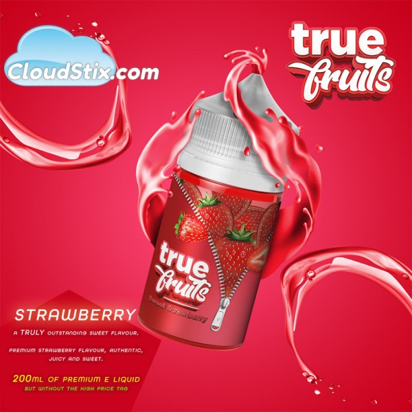 True Fruits Strawberry E Liquid
